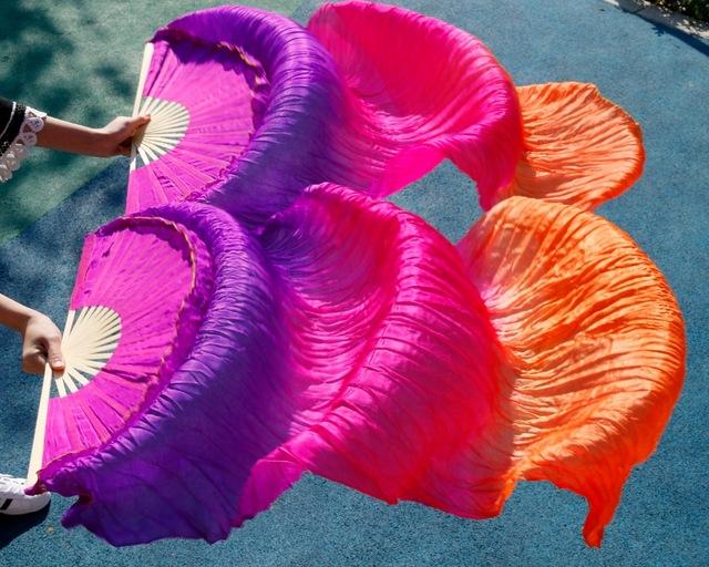 leque roxo rosa laranja