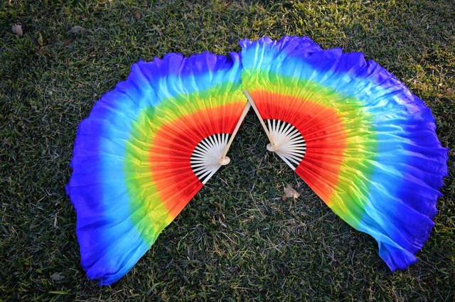 leque curto arco iris