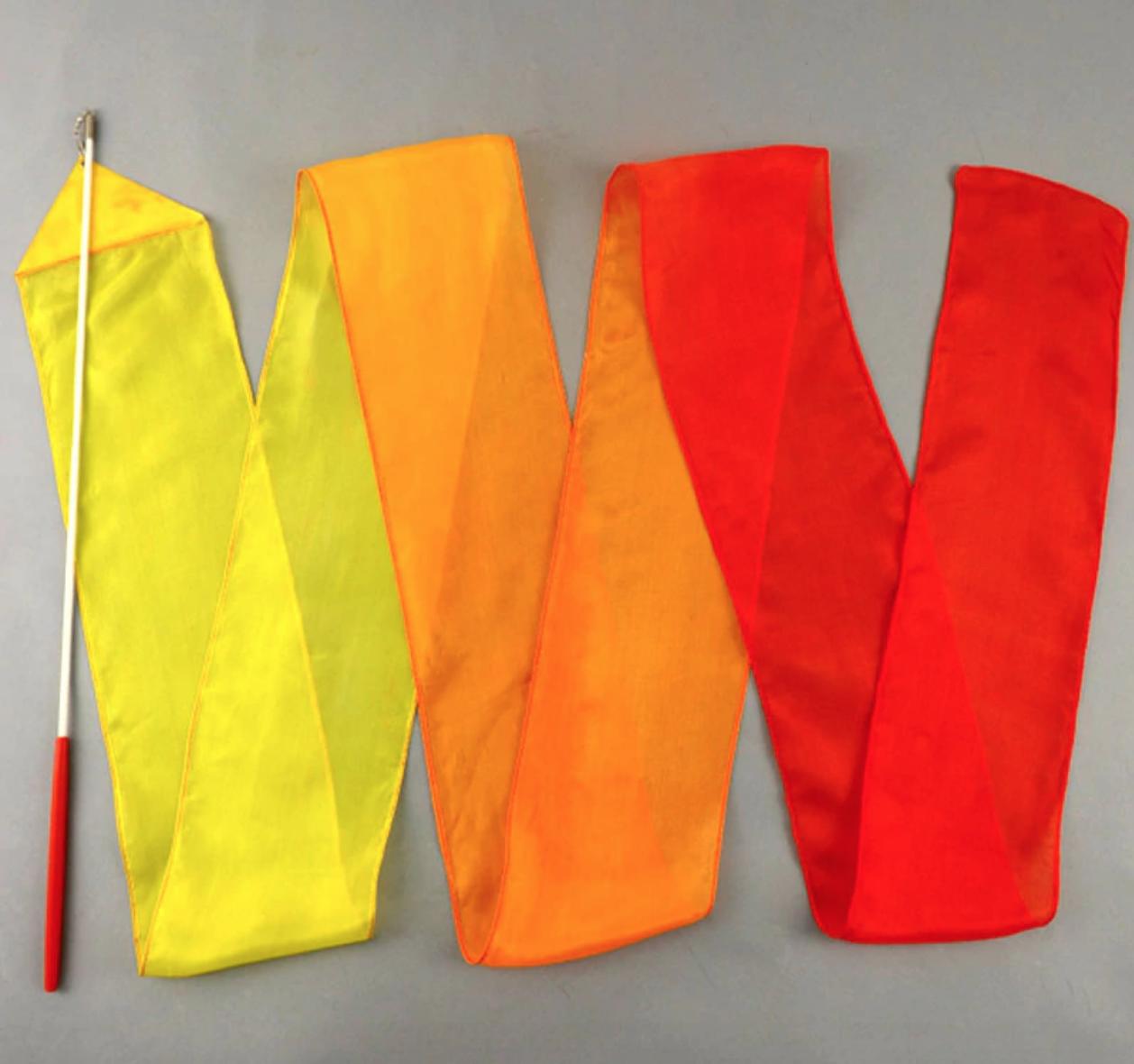 Fita Seda Amarelo Laranja e Vermelho