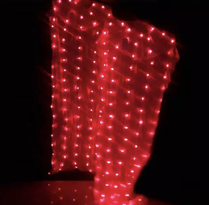 Leque LED vermelho